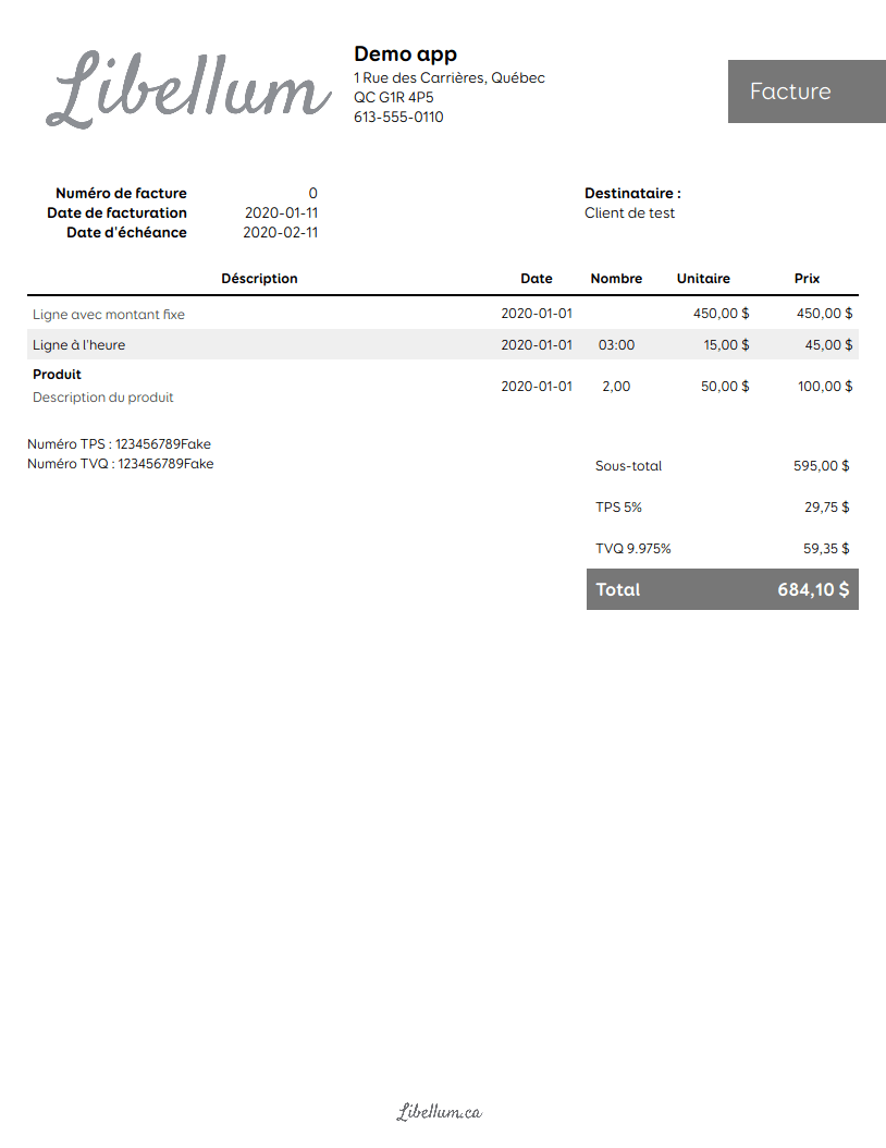 Bold invoice template preview